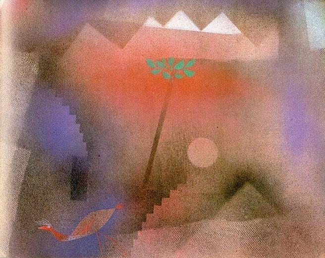Bird Wandering Off - Paul Klee